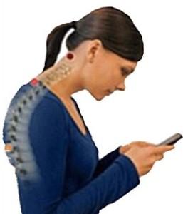 text neck lady